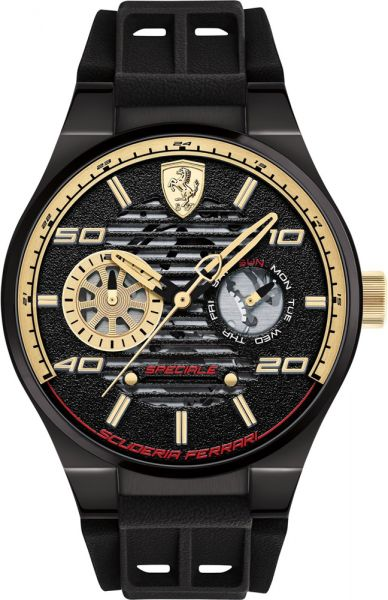 2ea8d4595a9ef Ferrari Speciale Men s Black Dial Silicone Band Watch - 830457 ...