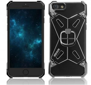 Nillkin for iPhone 7 Plus Barde II Metal Back Case Cover with Ring Stand - black