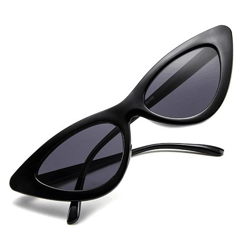 c1ccfb35dd5 Retro Vintage Narrow Cat Eye Sunglasses for Women Clout Goggles Plastic  Frame