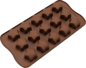 3D Silicone Molds 15 Stars Shape DIY Ice Cube Fondant Chocolate Moulds Silicone Candy Pastry Bar Jelly Mold Cake Bakeware Tools