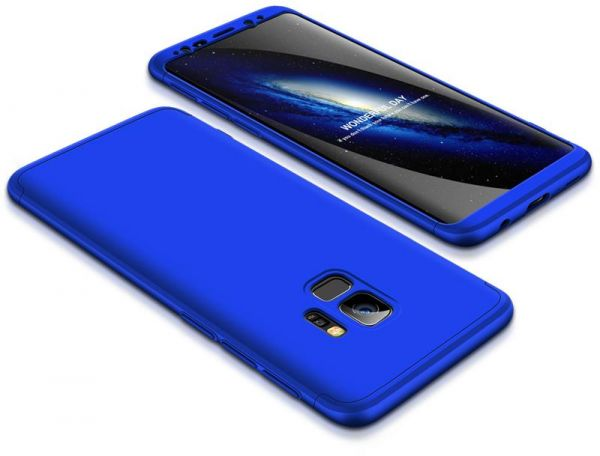 sports shoes fc3c7 e84aa Samsung Galaxy S9 Case, ultra Slim Gkk 360 Protection Cover Case - Blue