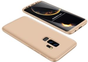 Samsung Galaxy S9+ Case, ultra Slim Gkk 360 Protection Cover Case - Gold