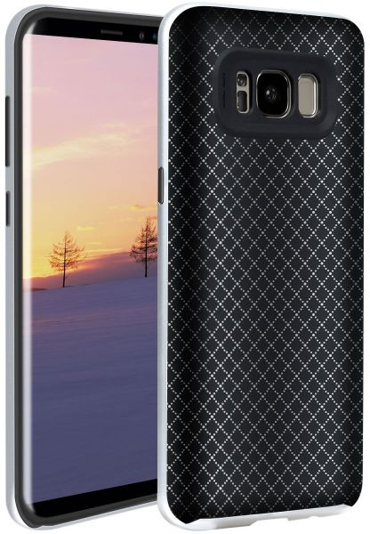 Slimfit Galaxy S8 Protective Case with Precise Cutouts Flexible TPU Back Cover Shell and Reinforced Bumper Frame Bling-bling Rhombus Armor for Daily Commerce Sports Entertainment fits Samsung S8