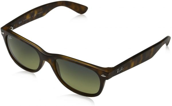 134ecc7b22 Ray Ban RB2132 New Wayfarer Sunglasses - 894 76 Tortoise (Polarized Blue  Green Gradient Lens) - 52mm