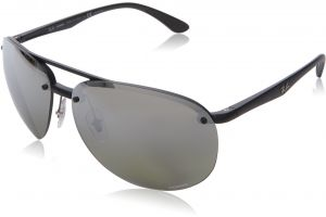 a9a96e1ade3 Ray-Ban Men s 0rb4293ch601s5j64plastic Man Polarized Iridium Aviator  Sunglasses
