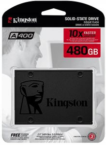 afbeb0a0128cf Kingston A400 SSD 480GB SATA 3 2.5 Inch Solid State Drive SA400S37 480G