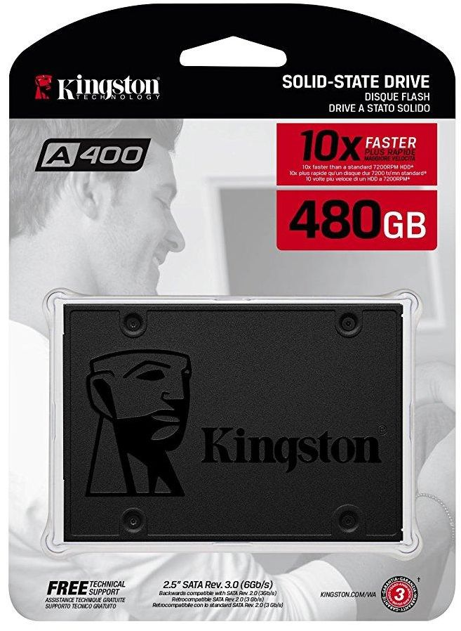Kingston A400 Internal SSD 480 GB SATA 3 - SA400S37/480G