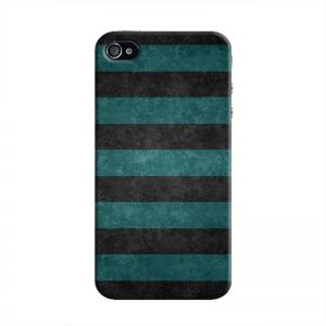 Cover It Up - Teal and Black Stripes iPhone 4/4sHard Case