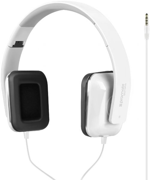 bf7556c793c Promate Foldable Headphones, Premium Stereo Headphones with Passive Noise  Cancellation, HD Sound Quality, Comfort-Fit Earpads and Built-In Mic for  iPhone X, ...