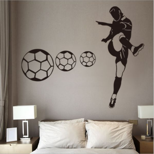 world cup personalised football wall stickers boy bedroom home decor