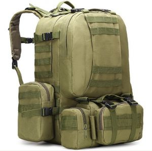Outdoor mountaineering backpack large capacity multi-functional combined camping  bag-green zZ  bd9acba8f4498