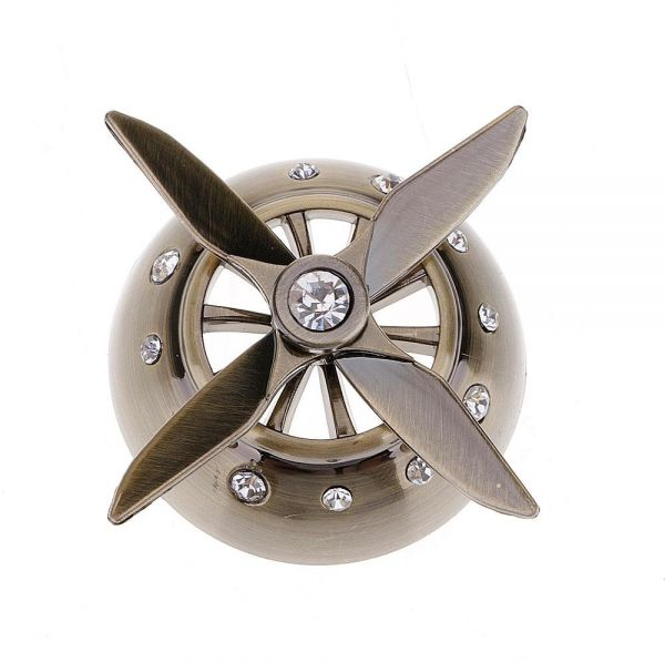 Airforce Four Blade Car Conditioner Vent Clip Air Freshener Fragrance Diffuser - Bronze