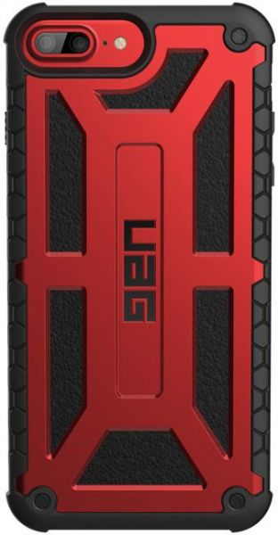 UAG iPhone 8 plus / iPhone 7 plus / iphone 6s plus [5.5 - inch screen] Monarch Feather-Light Rugged [CRIMSON] Military Drop Tested iPhone case - Red & Black