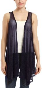 89bc7da9053b54 VESSOS Women s Lightweight Sleeveless Asymmetrical Hem Open Front Shrugs  Cardigan Vest