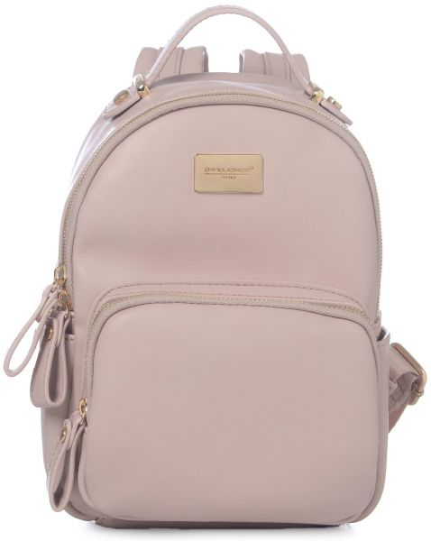 DAVIDJONES Fashion Pink Small Compack Travel Back Pack Purse for Teen Girls cf7c833b48a9f