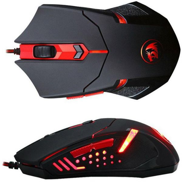 Redragon M601 Gaming Mouse Wired With Red Led 2000 Dpi 6 Buttons