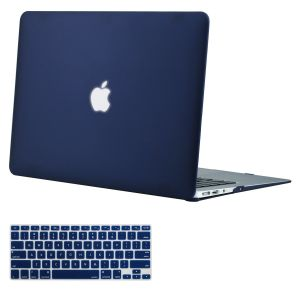f65039e33 Mosiso Plastic Hard Shell Case with Keyboard Cover for MacBook Air 13 Inch  (Models: A1369 and A1466), Navy Blue