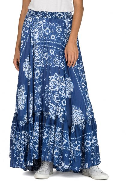 Replay Women Skirts For Broomstick Over Blue Muslin All Printed FqASFxBp