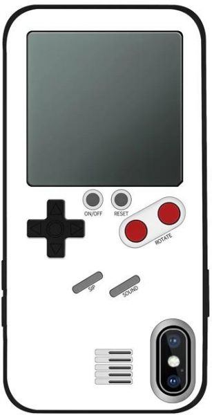 iPhone X Gameboy Case/Cover White