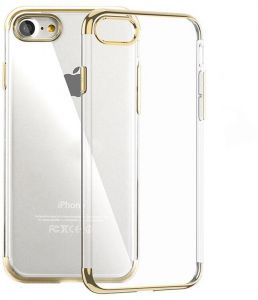 PIONEER iPhone 6 & 6s Clear Case, Ultra-thin Crystal Clear Shock Absorption Electroplating Frames Transparent Bumper Silicone Gel Rubber Soft TPU Cover Case ...