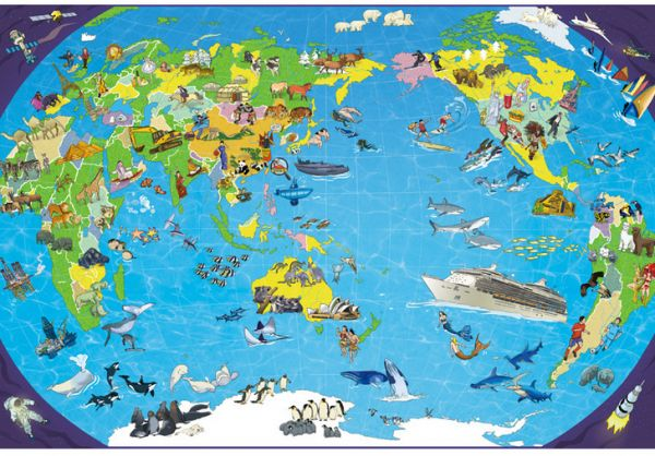 1000 Pcs World Map Jigsaw Puzzle Intellectual Toys For Children