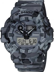 Casio G-Shock Men's Grey Dial Resin Band Watch - GA-700CM-8AER