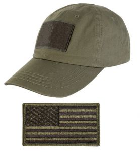 1adfd2be6 Tactical Military OD Olive Drab Green Sport Team Hat Cap + USA Flag ...
