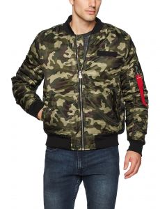 88ff2108fc94c WT02 Men's Ma-1 Padded Flight Bomber Jacket in Solid and Camo Colors,  Woodland, 3X-Large
