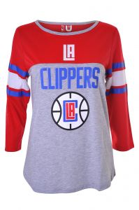 80b2d288c57 UNK NBA Women s Los Angeles Clippers T-Shirt Raglan Baseball 3 4 Long  Sleeve Tee Shirt