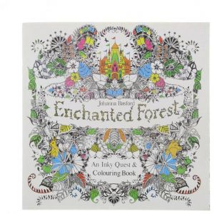 Enchanted Forest Book Coloring Books For Adults Painting Antistress 24 Pages Secret Garden Quiet Drawing 185 185cm With Color Pencil