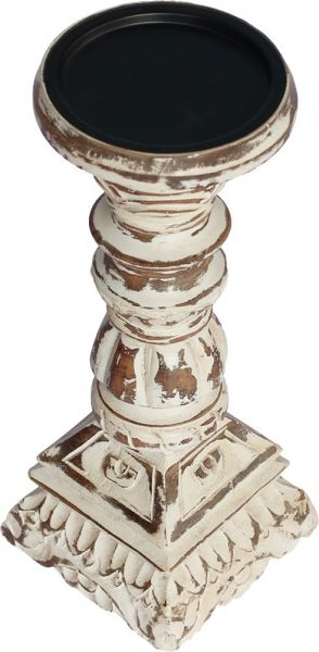 Souq souvnear 10 inch tall candle holders centerpiece pillar pillar candle holdervotive holder wooden decorative shabby chic distressed finished candle stand for fireplaceweddingtable top accessories junglespirit Image collections