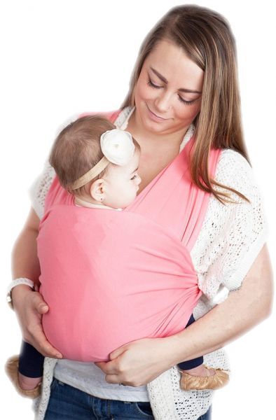 bf0995a4fe5 Baby Wrap Carrier Nursing Cover Blanket for Newborn and Infant Pink ...