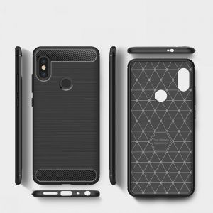 Case for Xiaomi Redmi Note 5 / Note 5 pro Carbon fiber full protective Phone Cover Black Color