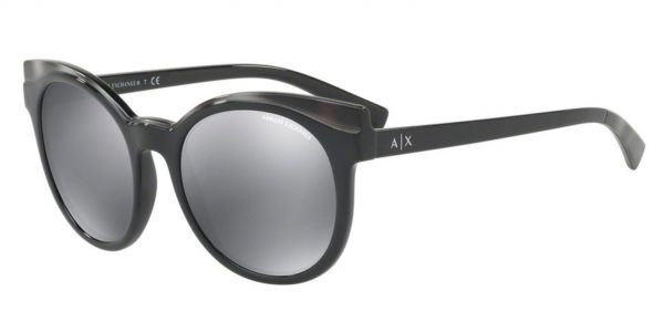2a6a5099073 Armani Exchange Women s Injected Woman Non-Polarized Iridium Round  Sunglasses