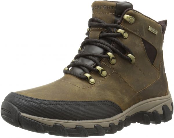 df4db3ca3147 Rockport Men s Cold Springs Plus Mudguard Boot Mid Brown Leather 11 ...