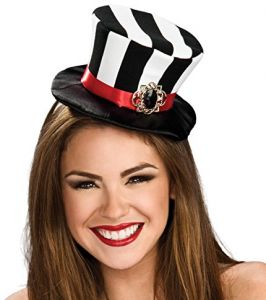 Rubie s Women s Black and White Striped Mini Top Hat abedd230449e
