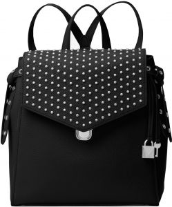 c1dbb08631dd Souq | MICHAEL MICHAEL KORS Bristol Medium Studded Leather Backpack - BLACK  | Oman