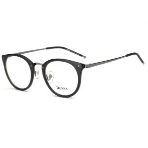 39f911db23 DONNA Stylish Clear Lens Glasses Samll Circle Frame Blue Light Blocking for  Computer DN08(Matte Black)