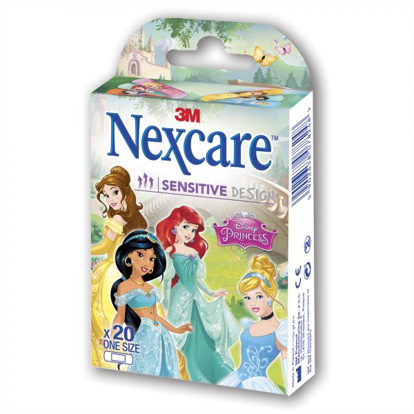 3m Nexcare Sensitive Princess Tattoo Bandages 20 Pieces الامارات