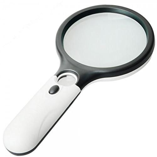 LED Magnifying Glass 10X + 5X Illuminated 2 Lens Set. Best Magnifier Set With Lights for Seniors, Macular Degeneration, Maps, Jewelry, Watch & Computer Repair, Hobbies & Stamps Read Easily At Night