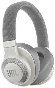 JBL E65BTNC over Ear Wireless Bluetooth Headset with Active Noise Cancelling Microphone - White