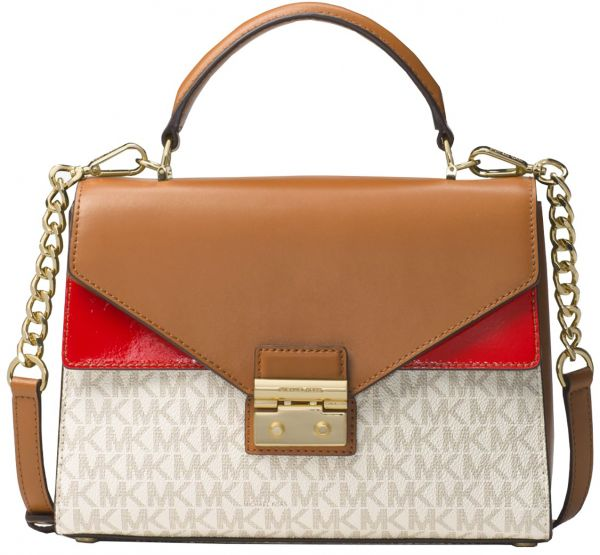 eb5b74b0013a3 MICHAEL MICHAEL KORS Sloan Logo and Leather Satchel - Multi Color. by Michael  Kors
