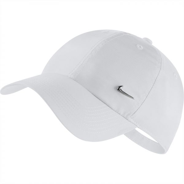 3e572424ec9 Nike U NSW H86 Metal Swoosh Baseball Hat for Unisex - White Metallic ...