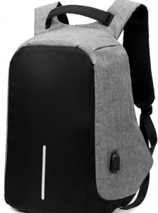6d14d9aaa3fc Laptop Backpack with USB Charging Port Waterproof Anti-theft Bag for Menand  Women Black and Grey Colour