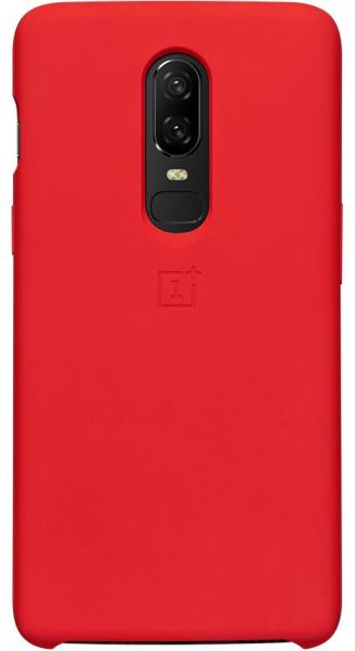 OnePlus 6 Liquid Silicone Protective Back Cover Red