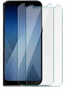 Samsung Galaxy A7 2018 Screen Protector, Galaxy A8 Plus 2018 Screen Protector, 9H Hardness HD High Clear Tempered Glass