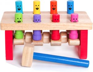 Wooden Knock Educational Toybaby Educational Learning Wooden Classic Pop Up Toys With Hammer Wj005