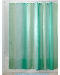 InterDesign Ombre Fabric Shower Curtain Polyester Blue Green 180 X 200 Cm