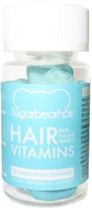 SugarBearHair Sugar Bear Hair Vitamins Gummies for Hair Growth - Travel Size Bottle, 10 Gummies