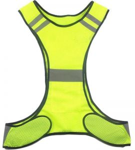 Shapers Reflective Vest High Visibility Safety Strap Cycling Jogging Running Adjustable Shapers Orange Green Black Purple Red High Quality Goods Men's Underwear